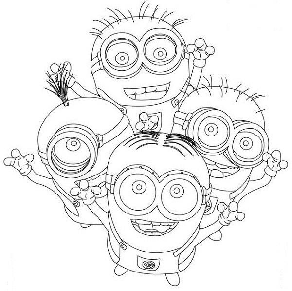 cute Minions Despicable me Coloring