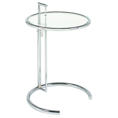 A stylish art deco-inspired table that can be height adjusted to suit your needs.