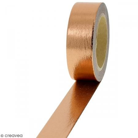 Masking tape Foil Cuivré uni - 1,5 cm x 10 m - Photo n°1