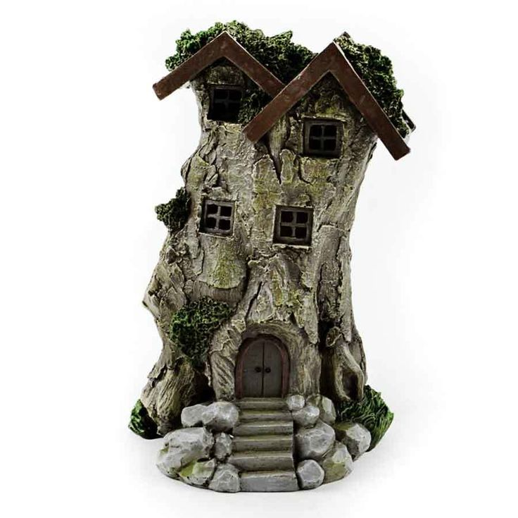 Fairy Homes and Gardens - LED Fairy Tree Stump House , $14.99 (https://www.fairyhomesandgardens.com/led-fairy-tree-stump-house/)