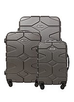 Jeep Luggage Locker Hardsided 3 Pce 4 X 4 T/Case-Charcoal