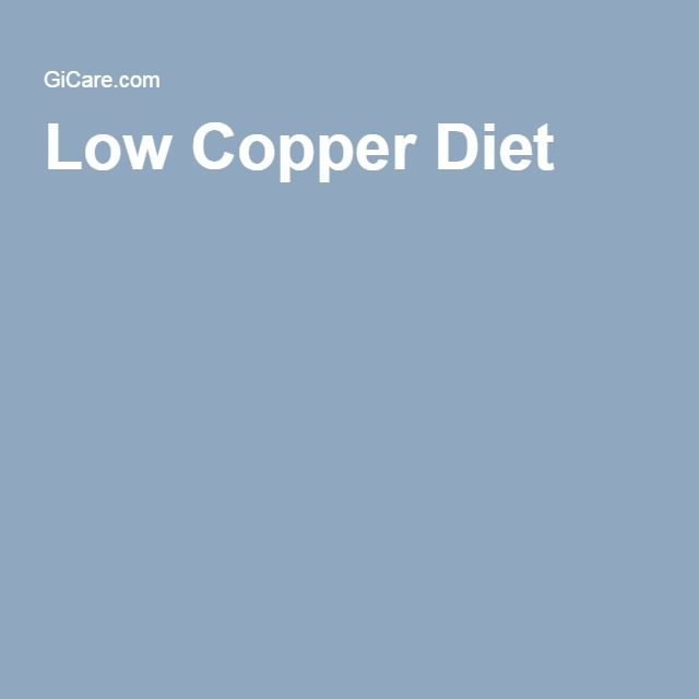 Low Copper Diet