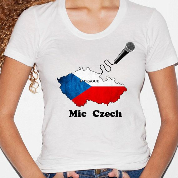 Mic Czech women's t-shirt by CasaVitruvius on Etsy