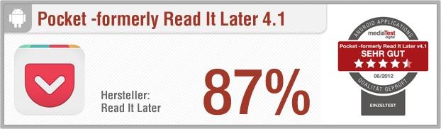 App-Test: Pocket –formerly Read It Later - Pro: Praktisch, benutzerfreundlich, schönes Design, schnelles Speichern, großes Support-Angebot // Contra:  Datenschutz-Lücke // Der gesamte Test auf: http://www.apptesting.de/2012/07/app-test-pocket-formerly-read-it-later/