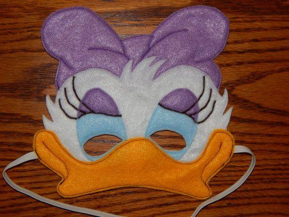 Daisy Duck ou Webbigail me sentais masque. Cette annonce est pour 1 des masques sur la photo.  Le fard à paupières et Hair Bow sur ce masque