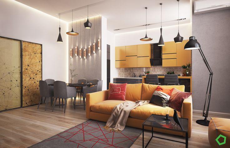 Komu brakuje inwencji, może zainspirować się poniższymi przykładami wspaniale zaaranżowanych małych i większych mieszkań…    #odwaznakolorystyka #dekoracje #dodatki #DecoArt24