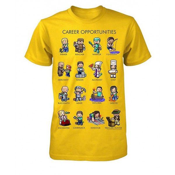 Super flot Minecraft t-shirt med mange motiver