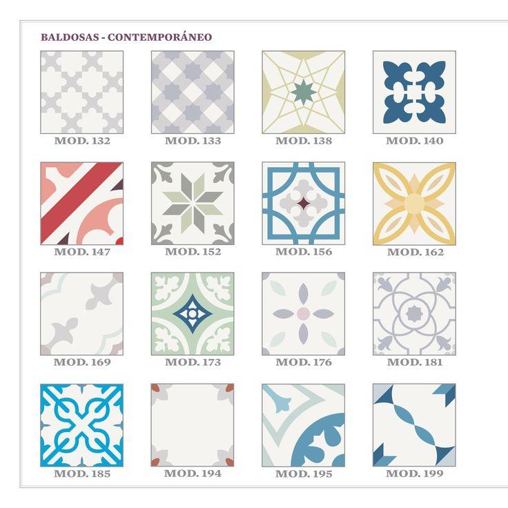 Catálogo de nuestros diseños de baldosas hidráulicas, azulejos y cenefas de 2016