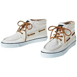 Betty High Top Shoe by Sperry® Top-Siders - The classic Sperry® Top-Sider with razor cut wave-siping for traction gets a facelift with a throwback high-top design.