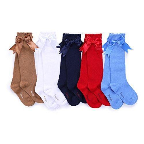 Oferta: 10€ Dto: -65%. Comprar Ofertas de Pettigirl Pettigirl Arco de las muchachas calcetines elastizados hecha a mano de la rodilla calcetines de alta Bebé Boutique barato. ¡Mira las ofertas!