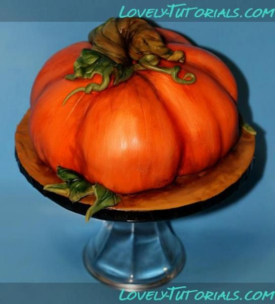"""МК Торт """"3Д Тыква"""" -3D Pumpkin cake tutorial - Мастер-классы по украшению тортов Cake Decorating Tutorials (How To's) Tortas Paso a Paso"""