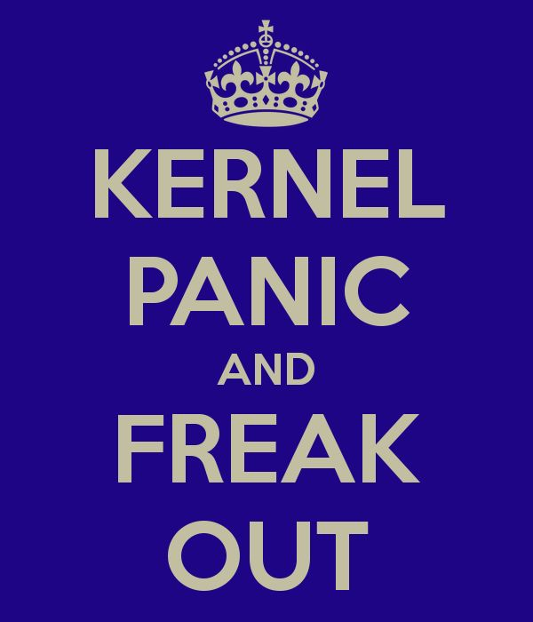 KERNEL PANIC AND FREAK OUT
