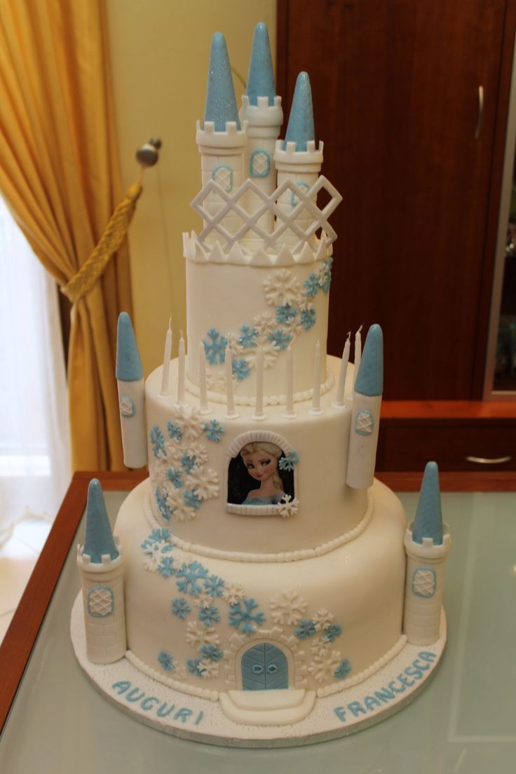 Torta castello di Frozen/ cake castle Frozen