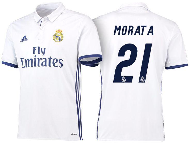 Real Madrid #21 Alvaro Morata 2016-17 Home Jersey
