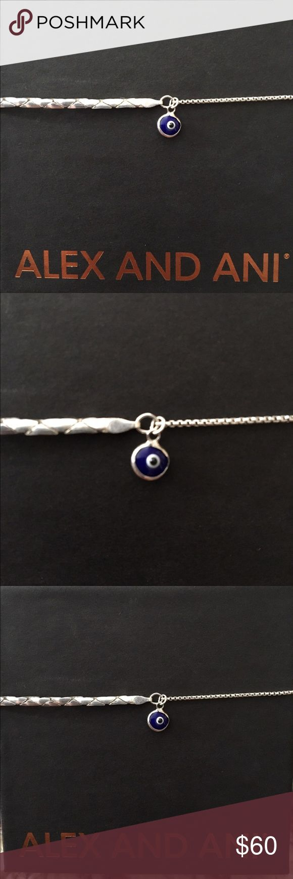Alex and Ani Providence Collection Evil Eye Sterling silver pull chain bracelet with and Evil Eye charm part of the Providence Collection. Safe to wear in the shower and could be worn as an anklet. Purchased at the Flagship Alex and Ani store! Alex & Ani Jewelry Bracelets