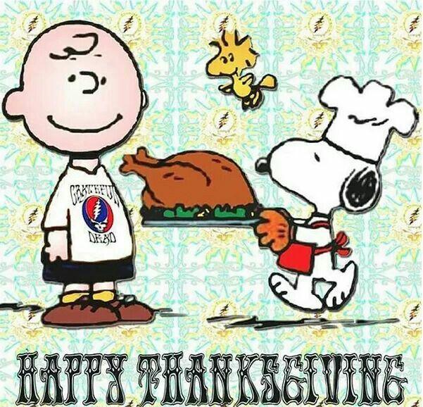 Peanuts Grateful Dead Happy Thanksgiving