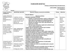 Planeacion didactica para Preescolar                                                                                                                                                                                 Más