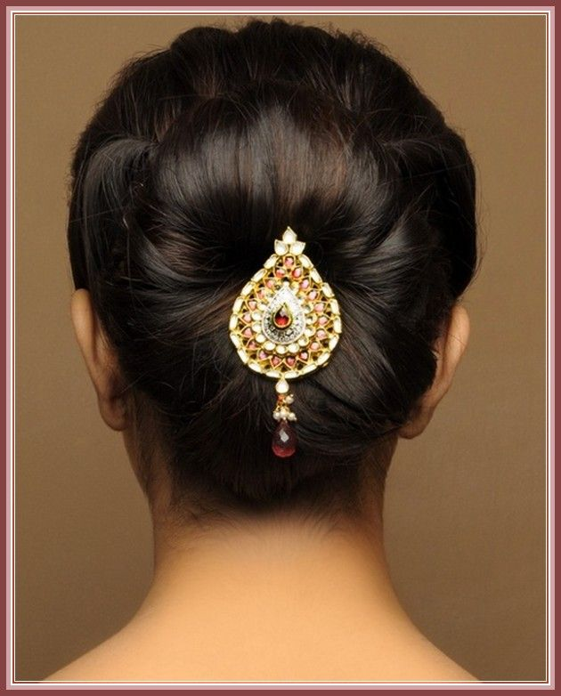 how to put flowers in hair indian style