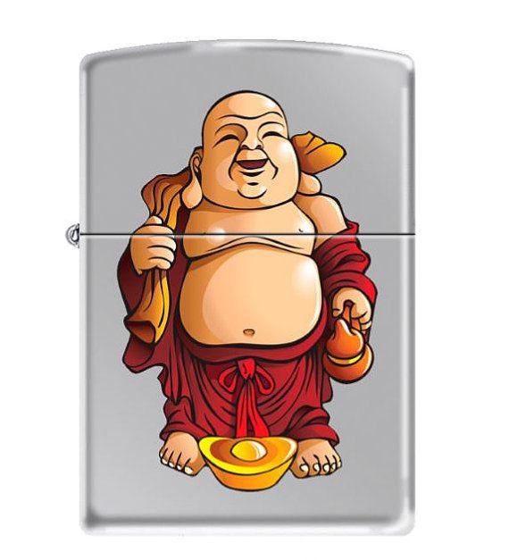Custom Made Zippo Lighter Laughing Buddha Japanese Buddhism Classic Polished…