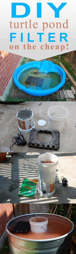 How to create a pond filter using 5 gallon buckets diy for Best homemade pond filter media