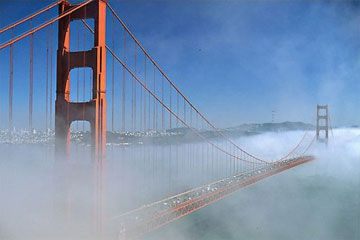 It remains the second longest suspension bridge main span in the United States. For its beauty and charm, the Golden Gate Bridge is one of the most frequently photographed bridges in the world.