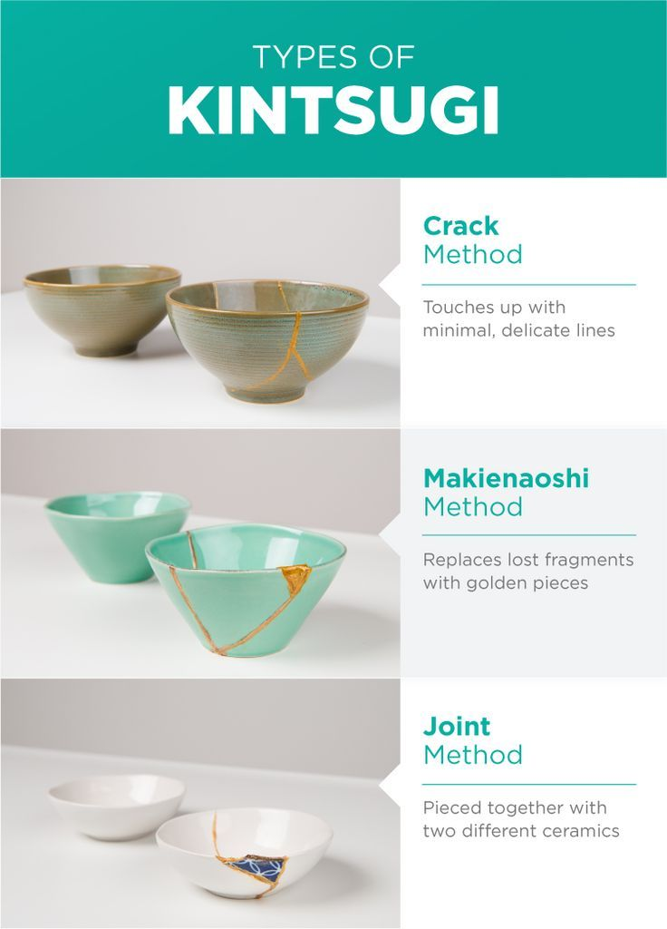 Types of Kintsugi Kintsugi ceramic repair home decor crafts upcycling vintage home accents japanese repairing pottery Kintsugi, Japanese Ceramics, Japanese Pottery, Japanese Art, Ceramic Pottery, Pottery Art, Ceramic Art, Slab Pottery, Pottery Studio