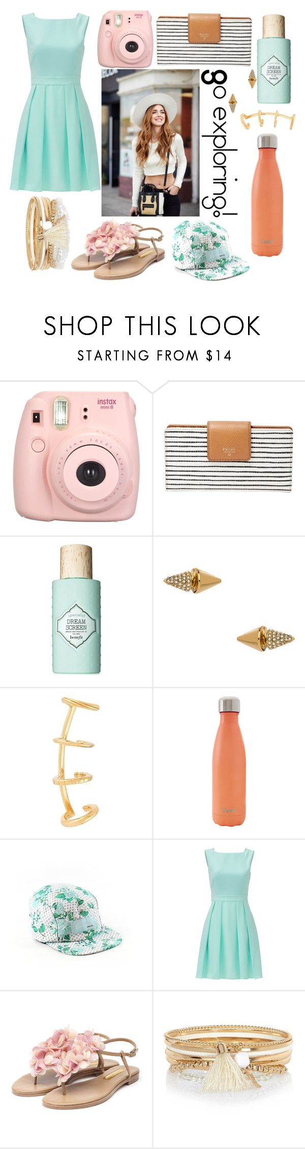 """""""Explore..."""" by nerdy-musicical-me ❤ liked on Polyvore featuring FOSSIL, Benefit, Blu Bijoux, Yves Saint Laurent, S'well, Diamond Supply Co., Kate Spade, Rupert Sanderson and River Island"""