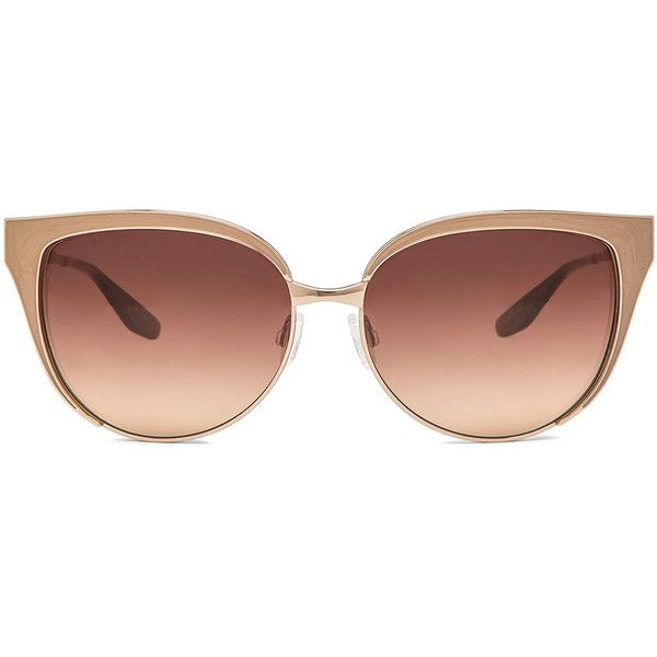 Barton Perreira Valerie Sunglasses (1.557.780 COP) ❤ liked on Polyvore featuring accessories, eyewear, sunglasses, glasses, очки, barton perreira, barton perreira sunglasses, metal frame sunglasses, lens glasses and barton perreira eyewear