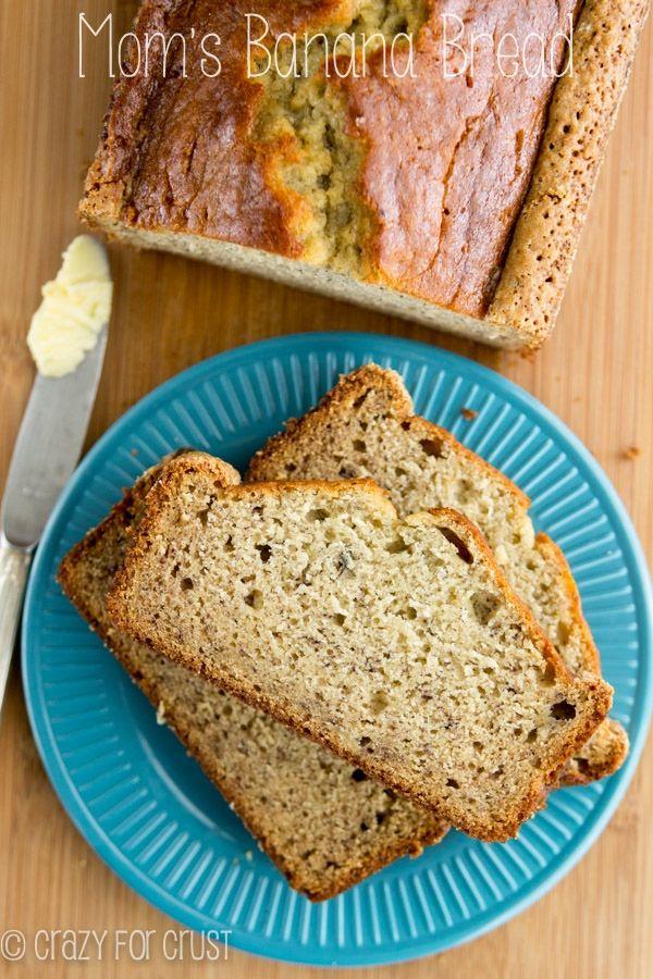 Mom's Banana Bread | crazyforcrust.com | The PERFECT banana bread recipe, straight from my mom to you!