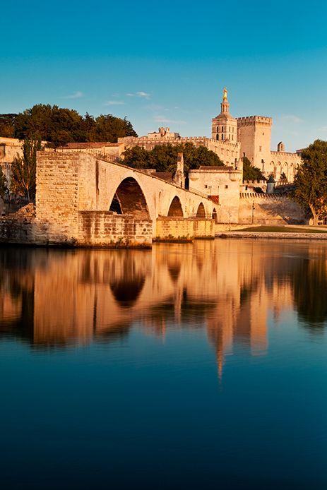 Pont Saint Benezet over River Rhone, AVIGNON, France. Sur le pont d'Avignon... how many times did we sing this ........
