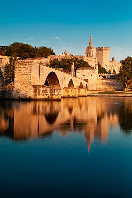 Pont Saint Benezet over River Rhone, Avignon France. Sur le pont d'Avignon... how many times did I sing this as a child? So pretty.