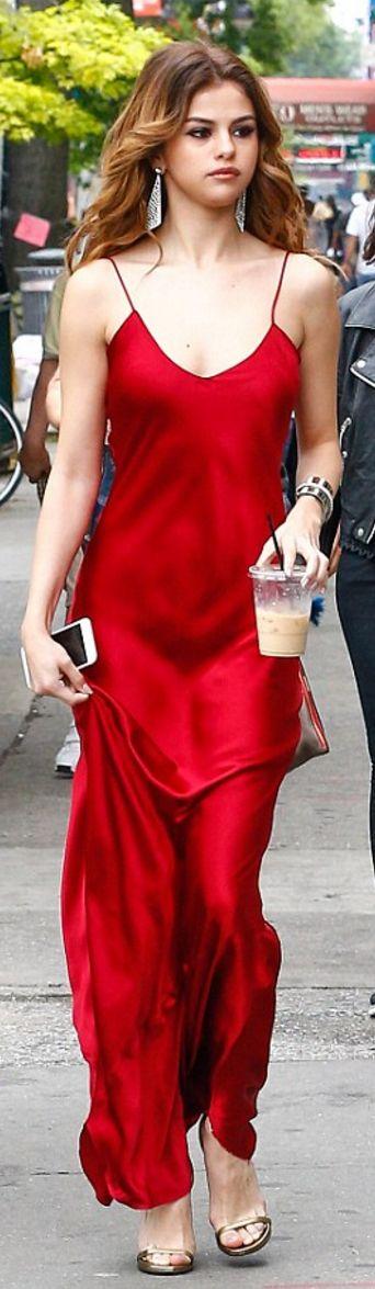 Selena Gomez: Dress – Nili Lotan Shoes – Saint Laurent