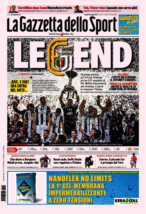 La Gazzetta dello Sport // 22/05/2017 // Foto di calcio