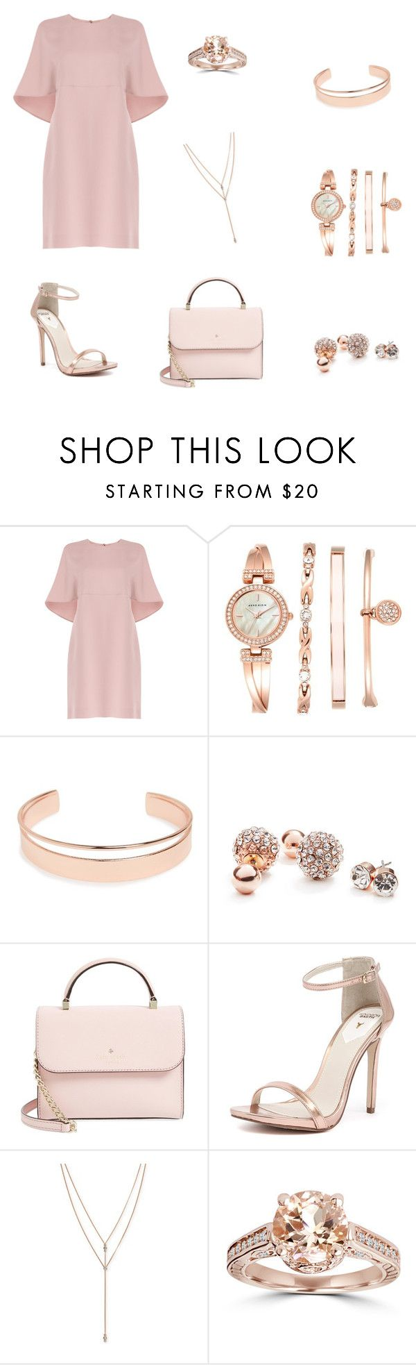 """""""Rose Gold"""" by kayy-giuseppe ❤ liked on Polyvore featuring Valentino, Anne Klein, Leith, GUESS, Kate Spade, Windsor Smith and Vince Camuto"""