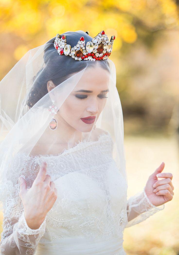 Bridal Imperial Swarovski Elements Crown handmade - unique creation ; Wedding headpiece