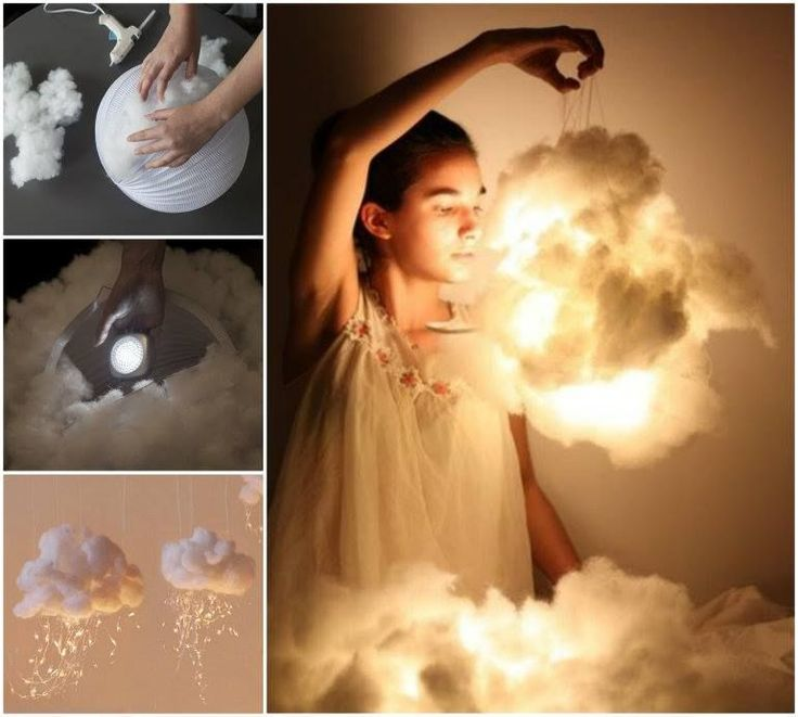 These mystical and dreamy LED cloud lights  are great to decorate your rooms or outdoor walkway during festivals.  Instructions--> http://wonderfuldiy.com/wonderful-diy-beautiful-cloud-lights-decoration/