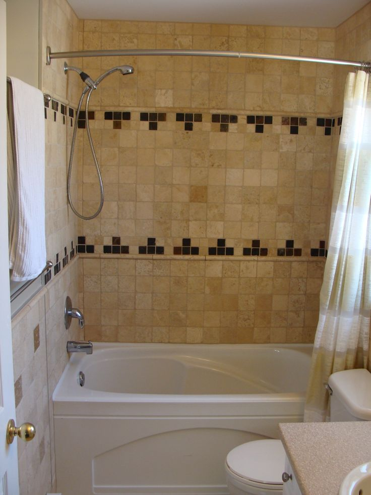Tile Tub With Shower Tile Tub Surround Use Black And
