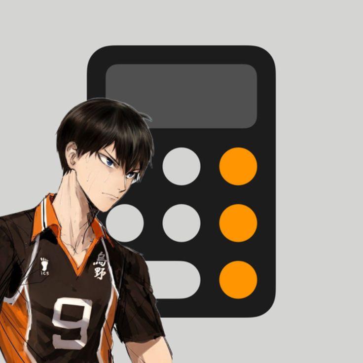 Calculator anime app icon app icon cute app anime snapchat