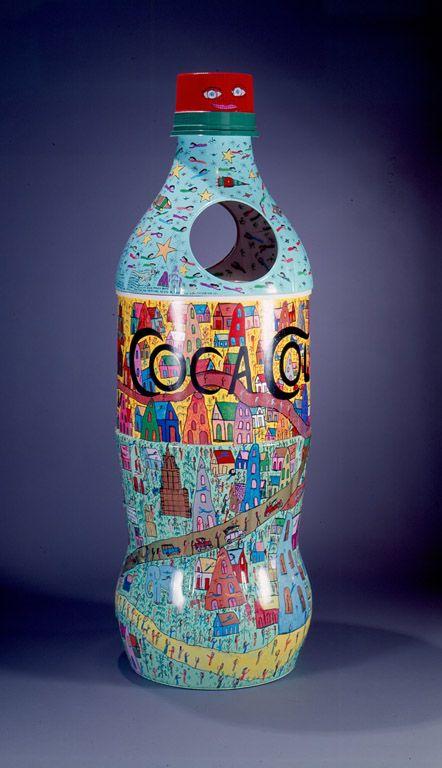 Howard Finster (American, 1916–2001)   Coca-Cola Bottle, #38,348   1995   Paint on prefabricated plastic bottle   T. Marshall Hahn Collection   1996.175Artdecor Bottle, Plastic Bottles, Coke Bottle, Coca Cola Pepsi Sodas, Howard Finster, Cocacola Bottle, Coca Colapepsisoda, Coca Cola Bottle, Prefabricated Plastic