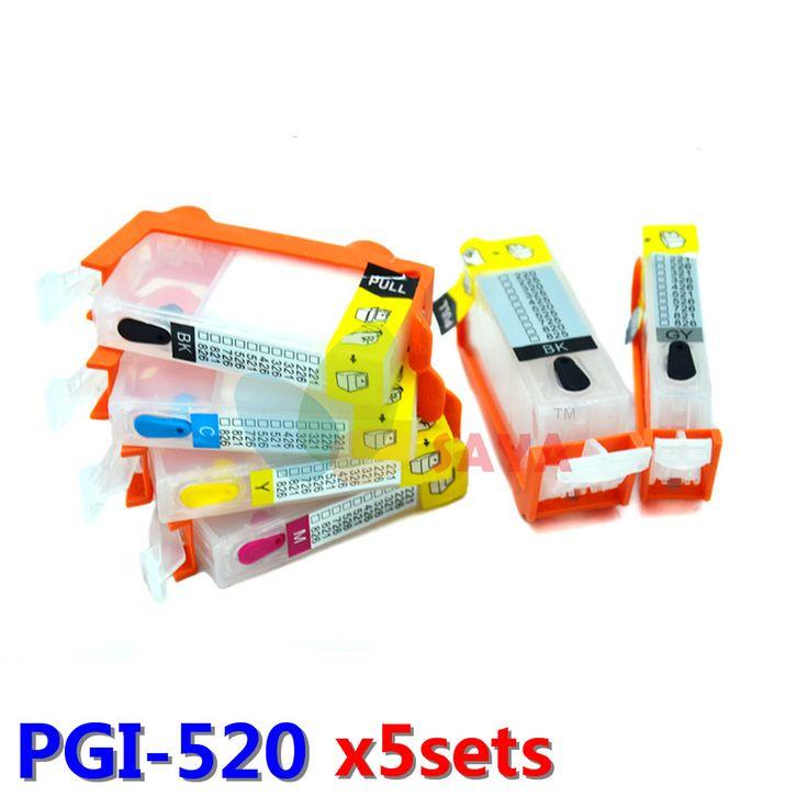 $43.00 (Buy here: https://alitems.com/g/1e8d114494ebda23ff8b16525dc3e8/?i=5&ulp=https%3A%2F%2Fwww.aliexpress.com%2Fitem%2F1set-PGI-520-Refill-ink-cartridge-For-Canon-iP3600-IP4600-MP980-MP560-MP640-MP990-MP630-MX860%2F32256223652.html ) SAYA 5sets PGI-520 Refill ink cartridge For Canon iP3600 IP4600 MP980 MP560 MP640 MP990 MP630 MX860 printer with auto reset chip for just $43.00