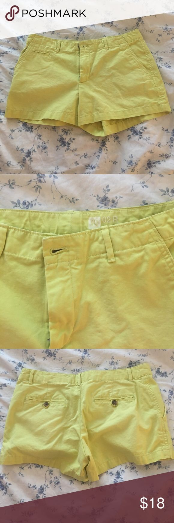 """GAP Lime Green Shorts 4"""" inseam, super cute--gently worn and still in great condition! GAP Shorts"""