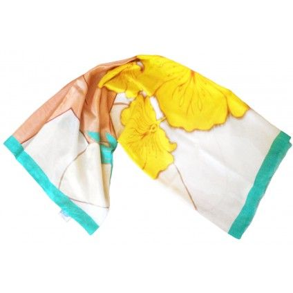 ANANDA NEW YORK large silk scarf