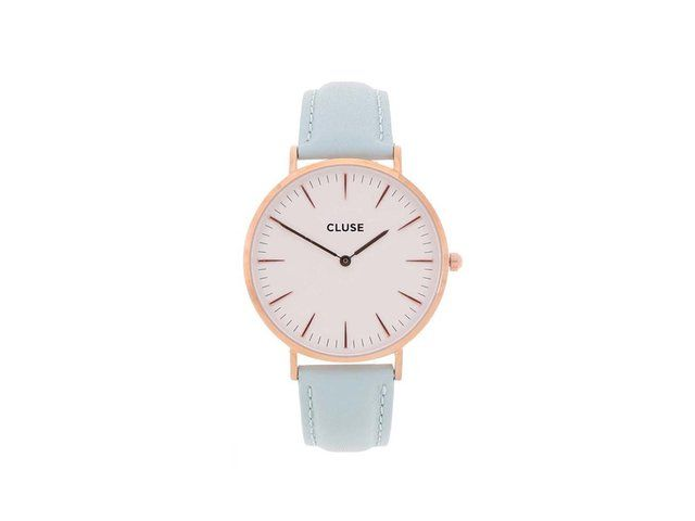 Bílo-mentolové kožené hodinky CLUSE La Bohème Rose Gold 2489 Kč