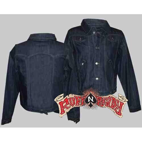 "Denim is in this season! Wear your Guys Denim Jacket by King Kerosin now! #rockabillyautumn #RuffnReadyAus #AutumnFashion #KingKerosin #GuysDenimJacket #fashionstatement #denim"""