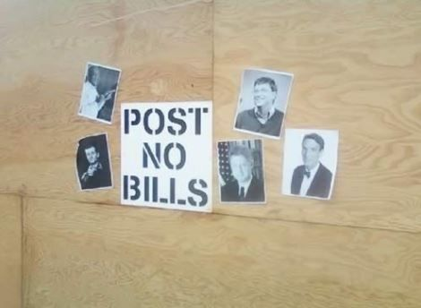 Post no bills.