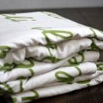 Personalized organic sherpa baby blanket. www.fawnandclover.com