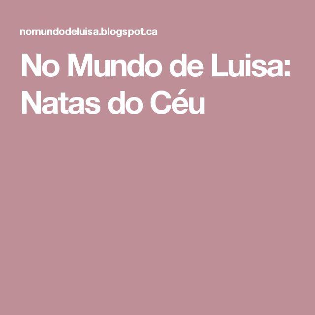 No Mundo de Luisa: Natas do Céu
