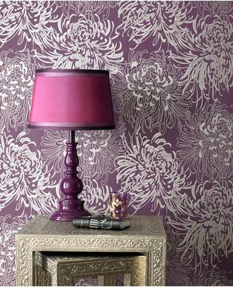 Wallpaper For Living Room At Competitor Site. Graham U0026 Brown    Chrysanthemum Wallpaper At