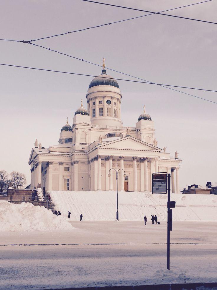 Helsinki, Finland. Winter. Tuomionkirkko