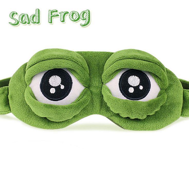 3D צפרדע עצוב שינה מסכת סיוע השינה מנוחת נסיעות להירגע כיסוי עיניים כיסוי קרח מקרה אנימה קוספליי מסכת שינה רטייה תחפושות